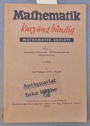 Mathematik-Skelett : Teil 2 - Analytische Geometrie: Teller, Otto: