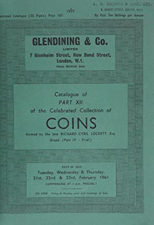 CATALOGUE OF PART XII OF THE CELEBRATED: Glendining & Co