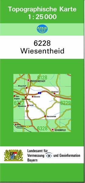 Topographische Karte Bayern.Topographische Karte Teil 6228