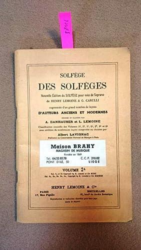 SOLFEGE DES SOLFEGES VOL. 2A: Lemoine, Henry und