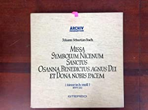 Missa Symbolum Nicenum Sanctus Osanta, Benedictus, Agnus: Bach, Johann Sebastian: