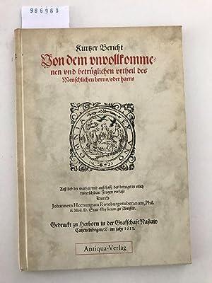 De Uroscopia fraudulenta Discursus. Kurtzer (kurzer) Bericht: Antiqua-Verlag: