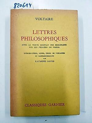 Lettres philosophiques, ou Lettres anglaises : avec: Voltaire: