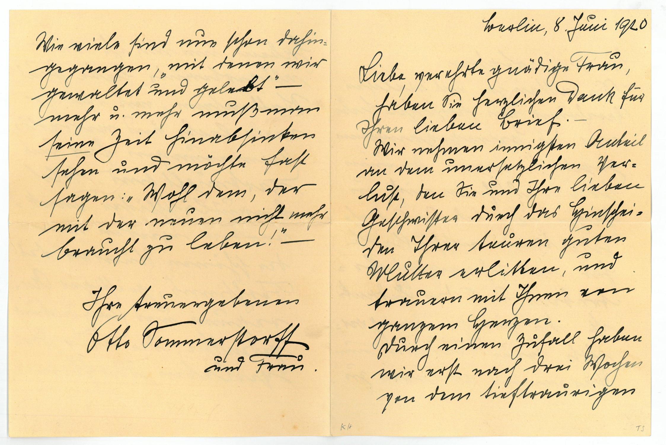Brief Von Otto : Eigenh brief mit von otto zvab