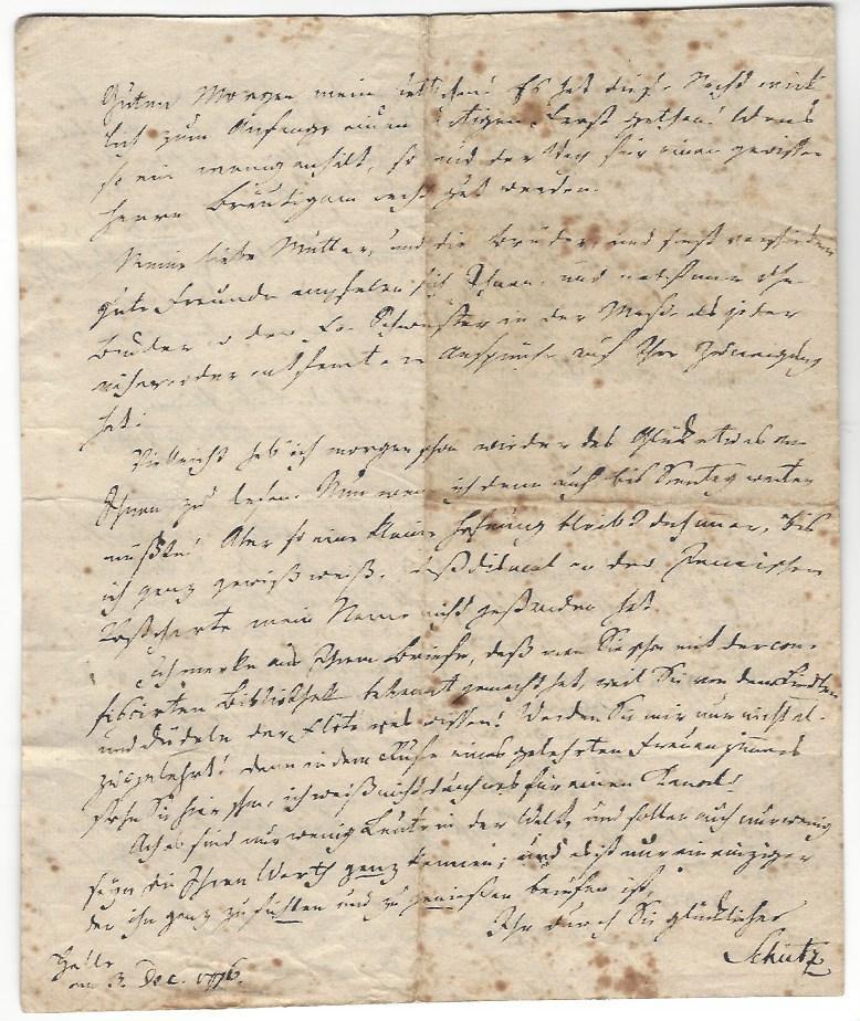 "2 eigenh. Briefe mit U. ( CG Schütz"": Goethe, Johann Wolfgang"