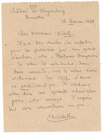 Eigenh Brief M U Von Elisabeth Gabriele In Bayern Belgische