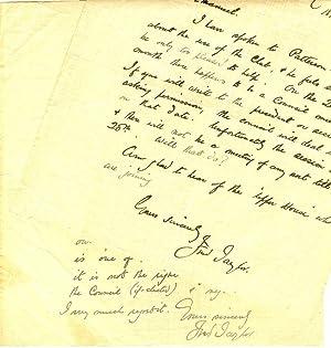 2 eigenh. Briefe mit U.: Taylor, Fred, Maler und Graphiker (1875 1963).