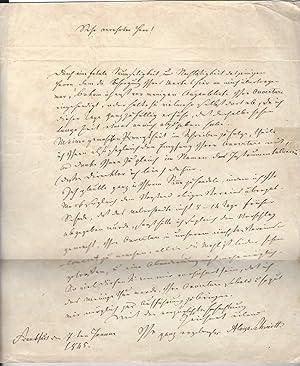 Eigenh. Brief mit U.: Schmitt, Aloys, Musiker