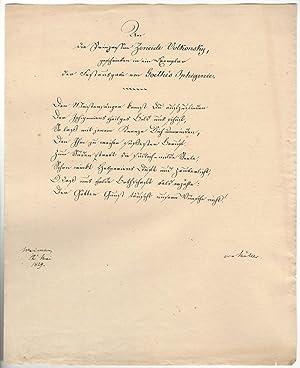 Sammlung von 100 Abschriften, Reinschriften, Matrizenabzügen u.: Johann Wolfgang von