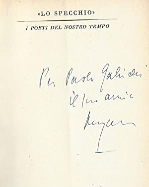 Eigenh. Widmung und U. auf dem Schmutztitel: Ungaretti, Giuseppe, Schriftsteller