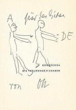 "Eigenh. Widmung mit Illustration und U. (""OK""): Kokoschka, Oskar, Maler,"