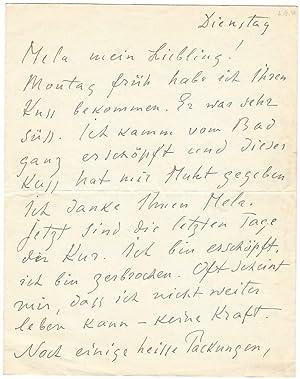 """Eigenh. Brief mit U. (""""Alexej"""") und eh.: Jawlensky, Alexej von,"""