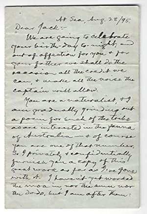 "Autograph letter signed (""From your well-wishing friend: Twain, Mark (d."