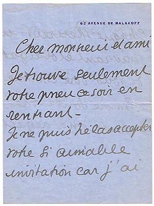Sammlung von 5 Autographen (4 eigenh. Briefe: Cocteau, Jean, Schriftsteller,