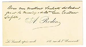Visiting card with annotation in a third hand.