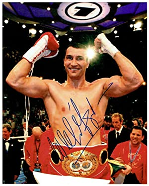 Signed colour 8 x 10 inch photograph by Wladimir Klitschko.