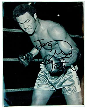 Signed 8 x 10 photograph by Foreman.
