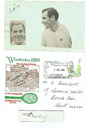 Small selection of two signed clipped pieces and one Commemorative Cover by various European tenn...