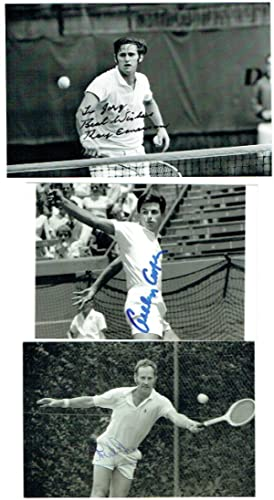 An excellent selection of signed 6 x 4 photographs and two 8 x 10, by various Australian tennis p...
