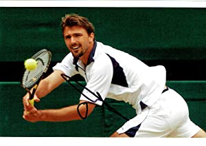 A good selection of signed 8 x 12 photographs and few slightly smaller (4) by various tennis players