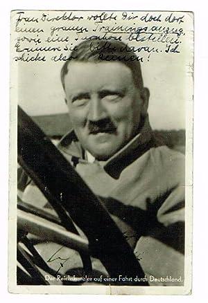 Portraitpostkarte mit eigenh. U.: Hitler, Adolf, deutscher