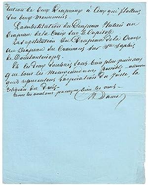 Eigenh. Manuskript m. Unterschrift.: Dumas père, Alexandre,