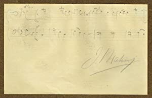 Autograph musical quotation signed