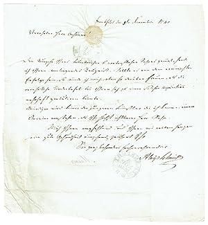 Eigenh. Brief mit Unterschrift.: Schmitt, Aloys, Komponist,