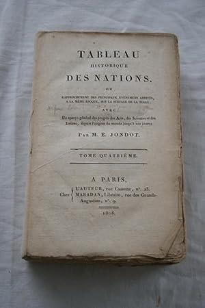 TABLEAU HISTORIQUE DES NATIONS OU RAPPROCHEMENT DES: M.E. JONDOT