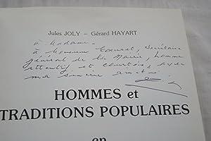 HOMMES ET TRADITIONS POPULAIRES EN FLANDRE-ARTOIS - ENVOI DEDICACE DE JULES JOLY: Jules JOLY - ...