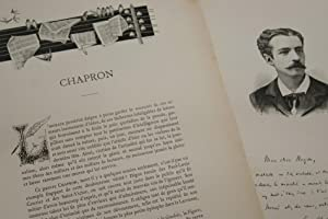 GRAVURE SUR BOIS LEON CHAPRON AVOCAT JOURNALISTE ALBUM MARIANI 1894 AUTOGRAPHE