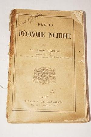 PRECIS D'ECONOMIE POLITIQUE: Paul LEROY-BEAULIEU