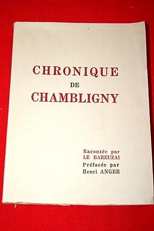 Chronique de Chambligny-DEDICACE: LE BAREUZAI