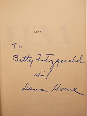 LENA**SIGNED BY LENA HORNE**: Horne, Lena, and