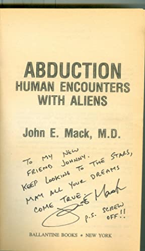 Abduction: Human Encounters With Aliens ( Signed