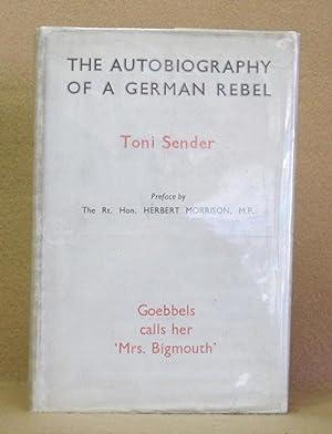 The Autobiography Of A German Rebel: Sender, Toni