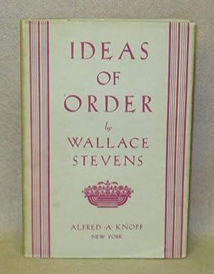 Ideas of Order: Stevens, Wallace
