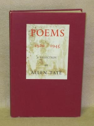 Poems 1920-1945. A Selection: Tate, Allen