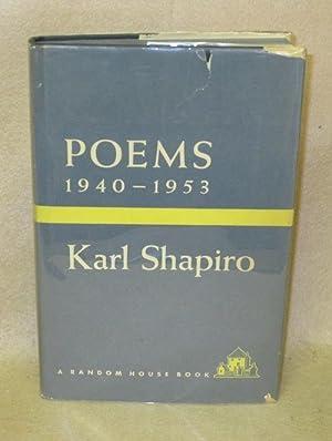 Poems 1940-1953: Shapiro, Karl