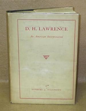 D.H. Lawrence: An American Interpretation: Seligmann, Herbert J.