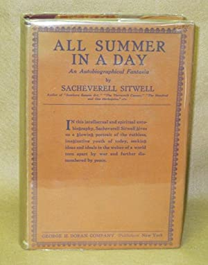 All Summer In A Day: An Autobiographical Fantasia: Sitwell, Sacheverell