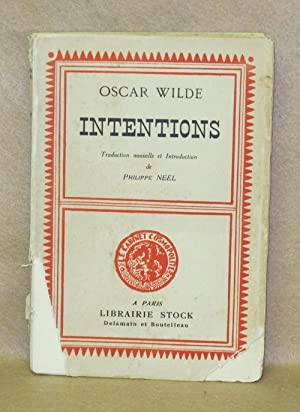 Intentions: Wilde, Oscar