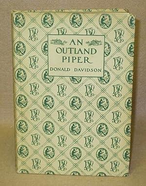 An Outland Piper: Davidson, Donald