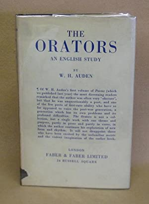 The Orators: An English Study: Auden, W.H.