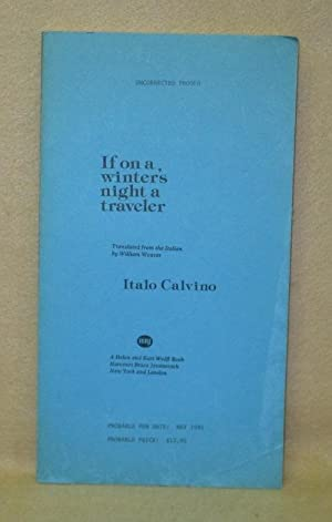 If on a winter's night a traveler: Calvino, Italo