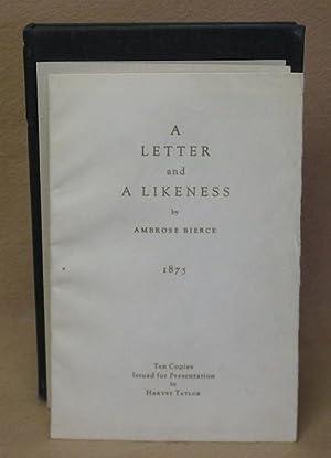 A Letter and A Likeness: Bierce, Ambrose
