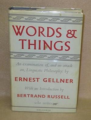 Words and Things: Gellner, Ernest