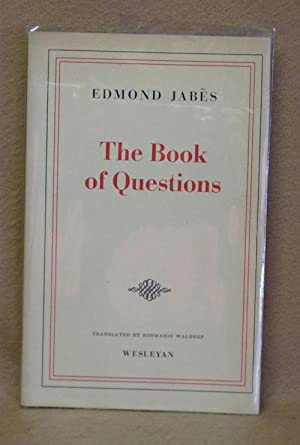 The Book of Questions: Jabès, Edmond