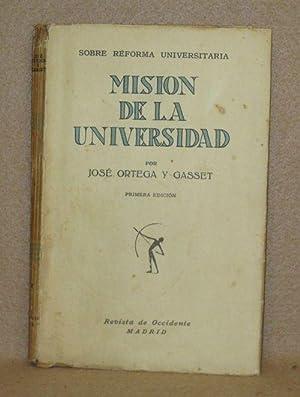 Mision De La Universidad: Gasset, José Ortega Y.