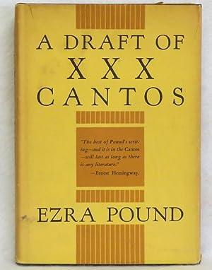 A Draft of XXX Cantos: Pound, Ezra